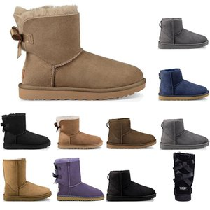 2021 winter cheap women snow boots fashion outdoor boot classic mini ankle short ladies girls womens booties triple black chestnut Coffee