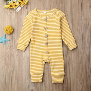 Winter Baby Clothes Striped Infant Boys Rompers Knitted Newborn Girl Jumpsuits Long Sleeve Toddler Outfits Children Clothing CCA2724