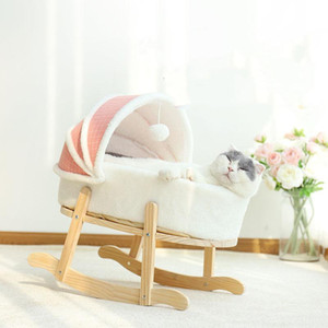 Cat Rocking Bed Lounger for Cats Swing Tent Washable Pet House Soft Plush Kitten Hammock Sleeping Mat shake Basket Small Dog Bed