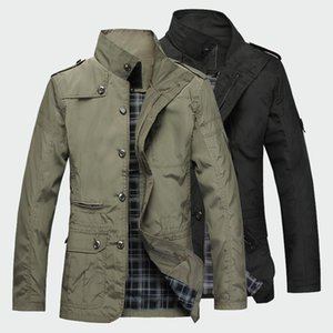 Fashion men jacket Spring autumn thin long Casual coat mens Solid color Windbreaker New male slim fit outerwear Plus size M-5XL