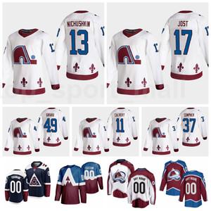 Colorado Avalanche Reverse Retro Jersey Hockey 13 Valeri Nichushkin 17 Tyson Jost 49 Samuel Girard 11 Matt Calvert 37 JT Compher Ian Cole