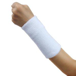 White Sweat Wristbands Bands Wrist Guard Yoga Running Fitness Bracer Wrist Support Sports Sweatband Sports Accessories