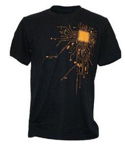Computer CPU Core Heart Print T-Shirt Men's GEEK Nerd Freak Hacker PC Gamer Tee Summer Hip Hop Short Sleeve T Shirt Euro Size S-XXXL