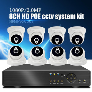 YiiSPO 8CH POE CCTV System kit 1080P IP Camera indoor IR Night Vison Security 2.0MP POE NVR Surveillance Kit P2P XMeye APP view