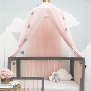 Baby Bed Canopy Mosquito Net Bed Curtain Baby Crib Netting Cot Round Hung Dome Kids Canopy Hanging Play Tent Children Room Decor1
