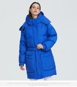2020 New Design Winter Coat Womens Parka Insulated Loose Cut With Patch Pockets Casual Loose Jacket Stand Collar Hooded