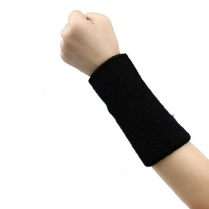 1 PC Unisex Cotton Sweatband 팔찌 팔 밴드 농구 테니스 체육관 요가 손목 지원 탄력 붕대 땀 밴드 # T2P