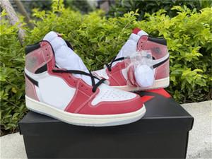 2021 Liberação Alta OG 1 Troféu Quarto Chicago 1s Branco Varsidade Vermelha Vela Vermelha Homens Pretos Mulheres Sapatos Ao Ar Livre Sapatilhas Esportes Com Caixa Original