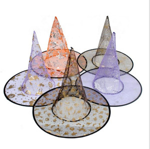 New Colorful Halloween Costumes decoration Hallowmas Party Props All Saints'Day Cool Witches Wizard Hats hat Cup