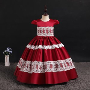 Girls Christmas Dress for Wedding and Party Gown Exquisite Communion Luxury Princess Dress Elegant Lace Girls New Year Costume