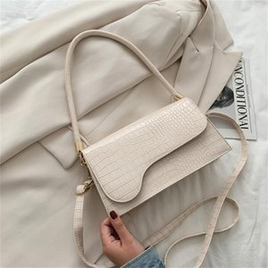 Elegant Baguette for Women Fashion Brand Handbags Designer Shoulder Bag Alligator Pattern Armpit Bags Crossbody 201130