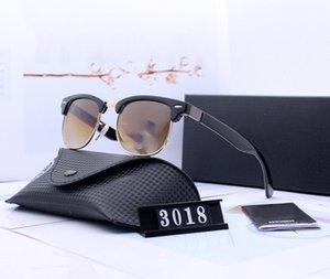 Bans Polarized Eyewear Ray Солнцезащитные очки Мужчины с Pilot Роскошный объектив Polaroid Женщины Металлическая Рамка Дизайн Коробка 3018 Очки UV400 STGCB