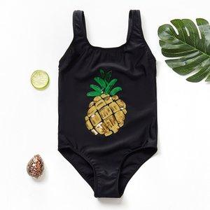 2021 New Girls Swimwear One Piece Bathing Suit 2-14 Years Ruffle Style Children's Swimwear Swimsuit One Piece Swimsuit