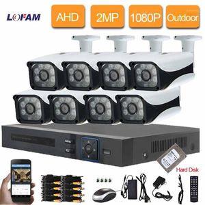 LOFAM 2MP AHD CCTV System 8CH 1080P DVR NVR Kit 8PCS 2.0MP Outdoor Waterproof Camera Security System Video Surveillance Kit1