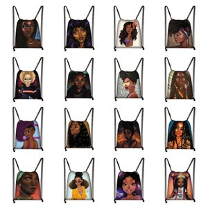 Afro Girls Students Bags Backpack Bag Shopping Designs American Africa Girl Brown Travel Fashion Drawstring Women For Storage Bags E123 Anwm