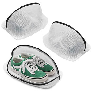 Shoe Wash Bags, Set of 3 Reusable Mesh Shoe Laundry Bags for Sneakers, Trainers, Running Shoes, Fit Up to Men'S Size 12