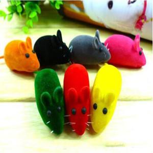 Маленькая мышь игрушка шума звук скрип крыс играя подарок для котенка кошка играть игрушечные игрушки игрушки резиновые плюшевые мышь игрушки YHM768