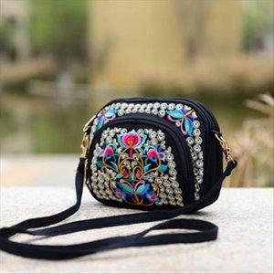 Sacs à main de couche de belles sacs multi-sacs amp; Bandoulière Floral National Floral Mignonne épaule femme! Sacs à broderies chauds Dame polyvalente mini gqcdm