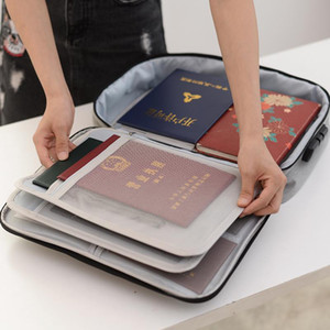 Travel Wallet Passport Holder Large Capacity Document Ticket Bag Important Business Briefcase Waterproof Bag Accessories Item