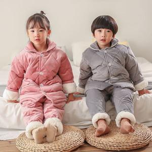 MIMW 6pcs Toddler Roupas de Pajamas Body Baby-Body Set 100cotton Bébé Bébé Garçons Vêtements Nouveau-né Confortable Infant Manches longues Sous-vêtement