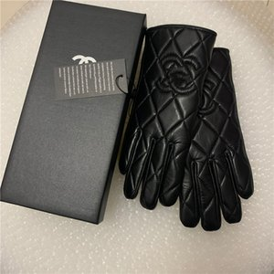 Leather glove female, rex rabbit fur mouth plus thick warm driving winter cycling driving gloves can touch screen