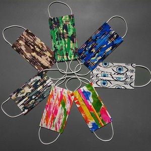 10 stücke Einzelhandelspaket Mode Einweg Black DesignerFace Masken Multicolor Vliesmaske Anti-Dust 3-Schicht Schutzwesen Unisex