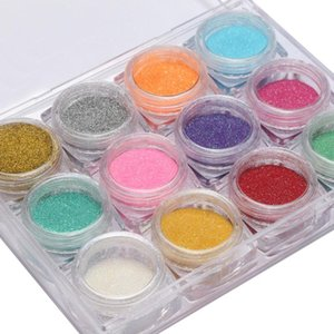 Laser Mixed Nail Glitter Powder Sequins Shinning Colorful Nail Flakes 3d DIY Charm Dust For Art Decorations