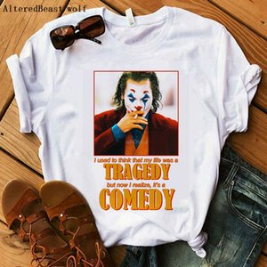 Joker Tops women T-Shirts fashion Joker TRAGDEY COMEDY printed funny tshirt women Joker t shirt femme streetwear casual clothes