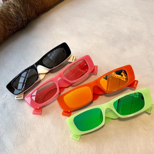 0517 Fluorescent Neon Green Oval Slim Sunglasses 0517S des lunettes de soleil 52mm Unisex Fashion Sunglasses New with box