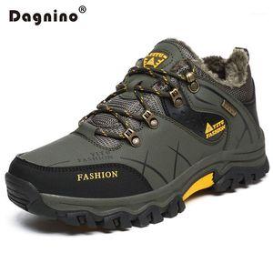 Çizmeler Dagnino Kış Sıcak Kürk Kar Erkekler Sonbahar Kaymaz Kauçuk Taban Ayak Bileği Su Geçirmez Ayakkabı Ayakkabı Artı Boyutu 39-471
