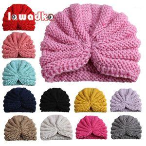 Lawadka Knitted Baby Hat Children Baby Caps Meninas Meninos Chapéus Recém-Newborn Fotografia PROPS Candy Color Beanies Acessórios1