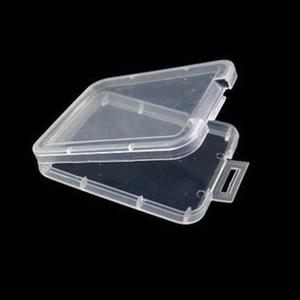 SD XD TF TF MMC Titulaire de carte mémoire CF Cartes de protection Conteneur en plastique Transparent Boîte de rangement Boîtier JK2101XB