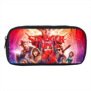 Stranger Things Pencil Case Storage cosmetic bag cartoon 3D Print Kids School Supplies Stationery Make up Box anime Pen Bag