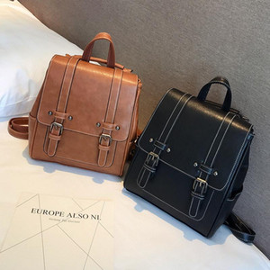 Vintage Women's Mini Backpack Luxury PU Leather Kawaii Backpack Cute Graceful Bagpack Small School Bags for Girls