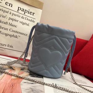 2020 Yeni Luxurys Tasarımcılar Çanta Varil Tipi Klasik Tarzı Omuz Messenger Çanta Moda Lady Moda Renkli Kozmetik Çanta