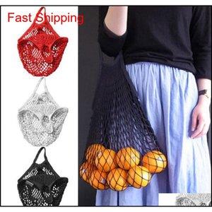2019 New Mesh Shopping Bag Reusable String Fruit Storage Handbag Totes Women Shopping Mesh Net Woven Bag Shop Gr qylFHb garden2010