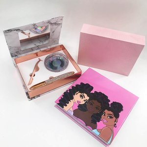 Custom Private Label Lash Box Set with Lash Glue Liner Real Mink 25mm Vendors Eye Tools Sets