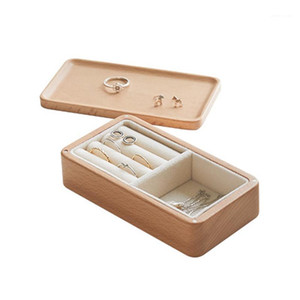 Wood Jewelry Boxes and Packaging Ring Earrings Necklace Travel Jewellery Organizer Storage Case with Magnet Attraction1