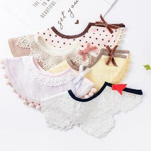 Baby Bib 360 Round Saliva Towel Bib Cotton Tassel Bow Burp Cloths Newborn Feeding Scarf Baby Supplies 17 Designs BT4218
