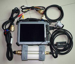كود القراء أدوات المسح الضوئي جودة ميغابايت ستار C3 Pro أداة تشخيص مضاعف مع كمبيوتر محمول IX104 SSD Software v2014.12 مجموعة كاملة للسيارة / الشاحنة