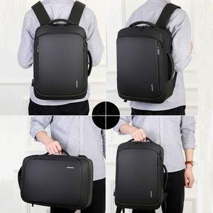 Shujin Laptop Backpack Mens Maschio Zaini Business Notebook MochiLa Impermeabile Back Pack USB Sacchetti di ricarica USB Viaggi Bagack 2020
