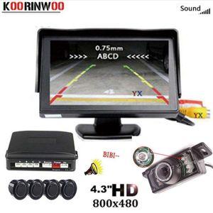 KOORINWOO VIDEO AWEROBILES PARKTRONINE CAR MONOL MONITOR HD 7 LED CAR REVERICAL CAMERA ALARM LINECTION PALTER Парковка Слепой датчик Score1