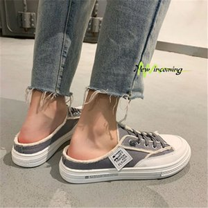 Newest Non-Brand Summer half slippers yellow black men's the trend of lazy shoes breathable Baotou men's shoes