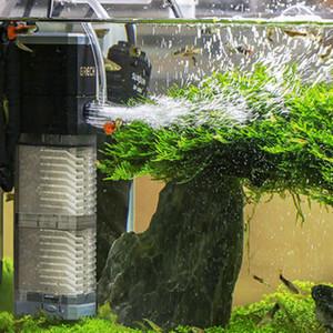 Супер 4 В 1 Sunsun Внутренний аквариум фильтр насоса Fish Tank Многофункциональное Wave Maker циркуляции воды воздушный насос фильтр C1115