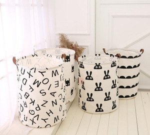 Cestini da sacchetto di stoccaggio per bambini giocattoli giocattoli borse di stoccaggio secchio abbigliamento abbigliamento organizzatore lavanderia borsa canvas organizer bat pois dot lavanderia 50pcs