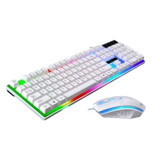 Wired Keyboard Mouse Set USB Led Optical Rainbow Backlight Low Latency Illuminated Game For Mac Notebook PC Laptop1