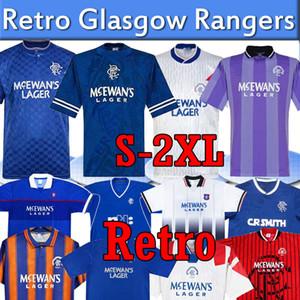 Glasgow Rangers Retro Futbol Formaları 1984 87 90 92 93 94 95 96 97 99 2001 02 03 Ev Mavi Uzakta Üçüncü Vintage Klasik Futbol Gömlek Üniformaları