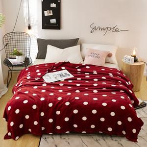 Lrea Super Microplush Microplush Fleece Sofá Adulto Quente Lançamento Cobertor Points ColorSpreads Capa na cama 201109
