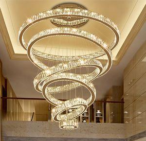 LIVRAISON GRATUITE 2020 Lustre Lustre Lustre Éclairage Éclairage Grand Crystal Lampe à LED Lampe de décoration de la maison Décoration d'éclairage