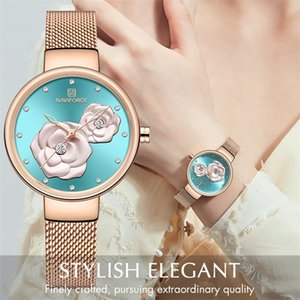 NAVIFORCE New Rose Gold Women Watches Dress Quartz Ladies Top Brand Luxury Female Wrist Watch Girl Clock Relogio Feminin 201218